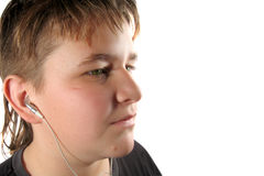 Muzikale tiener Stock Foto
