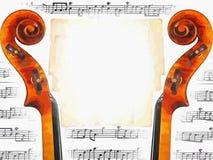 Muzikale uitnodiging Stock Afbeelding