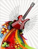 Muzikale vector royalty-vrije illustratie