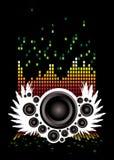 Muzikale vleugels stock illustratie