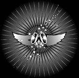 Muzikale vleugels Stock Foto's