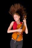 Muzikale vrouw Stock Foto