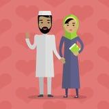 Muzułmańscy ludzie Arabska rodzina Arabska mąż żona royalty ilustracja