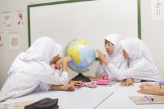 Muzułmańscy ucznie Zdjęcie Royalty Free