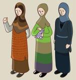 Muzułmańska dziewczyna w akci Obraz Stock