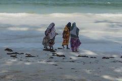 Muzułmańska kobieta na plaży Obrazy Stock
