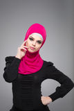Muzułmańska kobieta w hijab Obrazy Stock