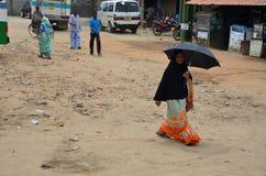Muzułmańska kobieta, wschodnie wybrzeże Srí Lanka Zdjęcia Stock