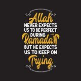 Muzułmański świętowanie, Ramadan wycena i mówić dobrzy dla druku projekta, fotografia royalty free