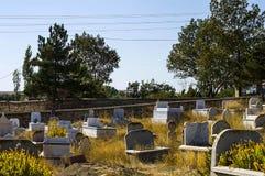 Muzułmański cmentarz, cmentarzy obrazy, nagrobki i Turecki cmentarz, Zdjęcie Royalty Free