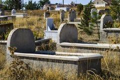 Muzułmański cmentarz, cmentarzy obrazy, nagrobki i Turecki cmentarz, Obraz Stock