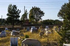 Muzułmański cmentarz, cmentarzy obrazy, nagrobki i Turecki cmentarz, Zdjęcia Stock
