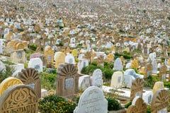 Muzułmański cmentarz w Rabat, Maroko widzieć przy 05 05 2016 Obrazy Stock