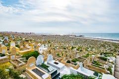 Muzułmański cmentarz w Rabat, Maroko widzieć przy 05 05 2016 Zdjęcie Royalty Free