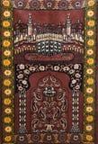 Muzułmański dywan dla modli się seccade zdjęcie royalty free