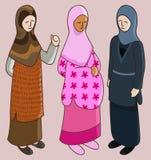 Muzułmański dziewczyna set Obraz Royalty Free
