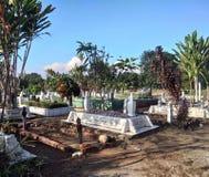 Muzułmański grób z jasnym niebieskim niebem na tle Zdjęcie Stock
