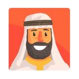 Muzułmański mężczyzna W Keffiyeh Sławnym Turystycznym przyciąganiu Zjednoczone Emiraty Arabskie Tradycyjny turystyka symbol Arabs Zdjęcie Stock