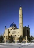 Muzułmański meczet z błękitnymi kopułami Zdjęcie Royalty Free