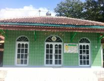 Muzułmański mosque& x27; s piękny miejsce kultu fotografia royalty free