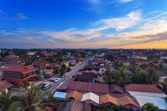 Muzułmański okręg Siem Przeprowadza żniwa miasto, Kambodża Zdjęcia Royalty Free