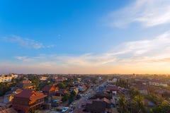 Muzułmański okręg Siem Przeprowadza żniwa miasto, Kambodża Zdjęcie Royalty Free