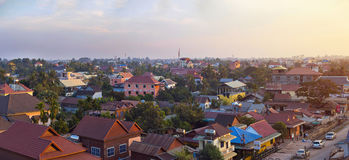Muzułmański okręg Siem Przeprowadza żniwa miasto, Kambodża Obraz Stock