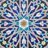 Muzułmański ornament na meczetowej ceramicznej powierzchni Zdjęcia Royalty Free