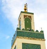 muzułmański w meczecie historia symbolu Morocco Africa mina Fotografia Stock