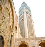 muzułmański w meczecie historia symbolu Morocco Africa minare Obrazy Stock