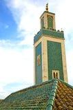 muzułmański w meczecie historia symbolu Morocco niebo Obrazy Stock