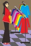 Muzułmańskie kobiety robią zakupy Ilustracja Wektor