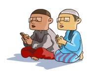 Muzułmanin Żartuje aktywność - ilustracja set Zdjęcia Royalty Free