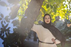 Muzułmanina modela pozować obraz royalty free