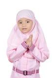 Muzułmańska mała dziewczynka Obrazy Royalty Free