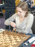 Muzychuk Mariya. Chess player in the international open Gibraltar. It is one of the most important in the world open. It is an editorial image January 2016 Stock Photo