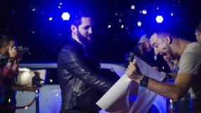 Muzycy daje autografom fan zdjęcia royalty free