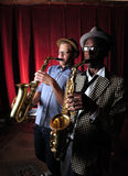 Muzycy Jazzowi w barze Zdjęcia Royalty Free