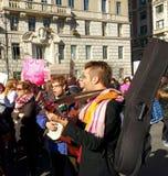 Muzycy przy kobiety ` s Marzec, NYC, NY, usa Zdjęcia Royalty Free