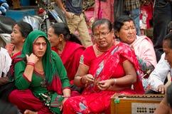 Muzycy w Bhaktapur, Nepal Obrazy Royalty Free