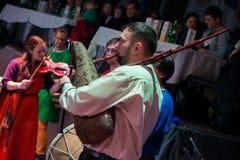 muzycy z krajowymi instrumentami muzycznymi Zdjęcie Stock