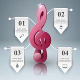 Muzyczna edukacja Infographic Nutowa ikona Obraz Royalty Free