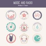 Muzyczna etykietka Obrazy Royalty Free