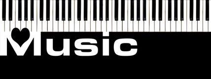 Muzyczna & Fortepianowa klawiatura ilustracja wektor