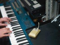 Muzyczna i komputerowa mysz zdjęcia stock