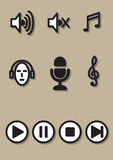 Muzyczna ikona Fotografia Royalty Free
