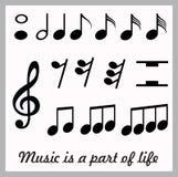 Muzyczna ikona Obraz Royalty Free