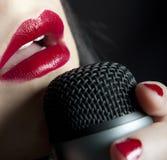 muzyczna kobieta Zdjęcia Stock
