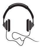 Muzyczna hełmofon ikona Zdjęcia Royalty Free