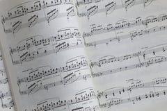 muzyczna notacja zdjęcie stock